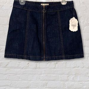 NWT Altar'd State dark wash denim mini skirt small